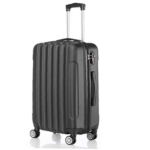 Yililay Luggage Suitcase On Hand, Black 3-in-1 Multifunctional Large Capacity Trolley Carry Hard Shell Travel Bag Lightweight Storage Suitcase with 4 Wheels.