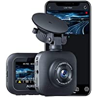Aukey 4K Dash Cam with WiFi, HDR, Motion Detection, 2 USB Ports