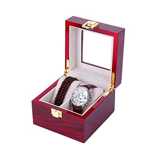 FGDSA Caja de Reloj de Madera, Soporte de exhibición/Juego de Caja/Caja de Almacenamiento para Relojes de joyería, Caja de colección de Pulseras Caja de presentación de Reloj de 2/3/5 Rejillas
