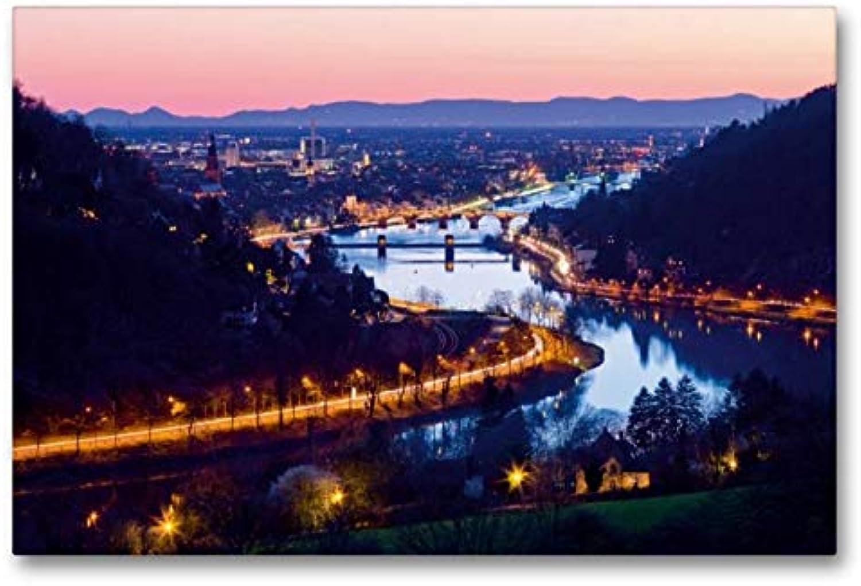 Calvendo Au-delà de la Nuque de Heidelberg la Nuit, 90x60 cm