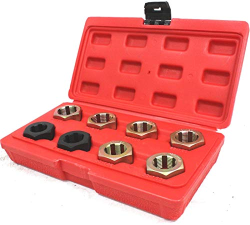 COLIBROX 8pc Axle Spindle Fractional & Metric Rethreading Set Kit