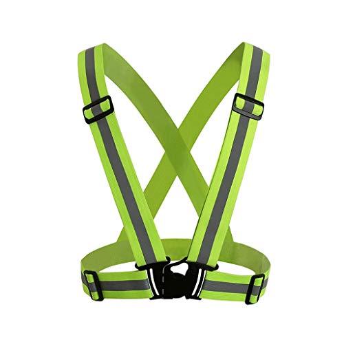 NONMON Chaleco Reflectante Alta Visibilidad Ajustable de Seguridad Cinturón Elástico para Correr Paseo Ciclismo Motorista Bicicleta,1 Pieza