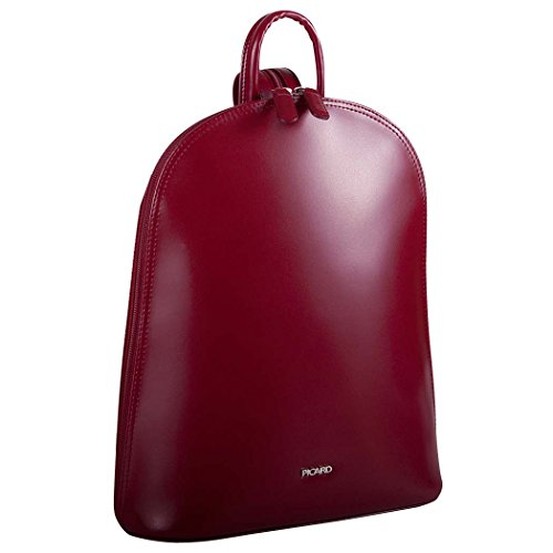 Picard Damen Backpack Leder Rucksack 25x30x10 cm (BxHxT), Farbe:Rot
