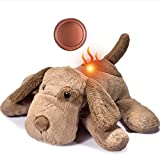 Moropaky Puppy Toy Heartbeat Warm Toy Dog Anxiety Relief Behavioral aid Toys for Puppies Sleep Aid Separation Anxiety Soother Cuddle, Dark Brown