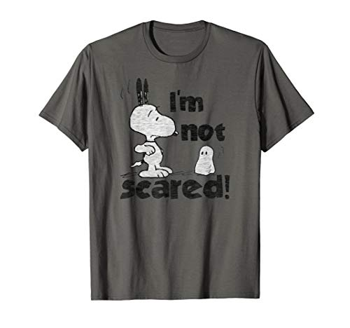 Peanuts Halloween Snoopy Ich habe keine Angst T-Shirt
