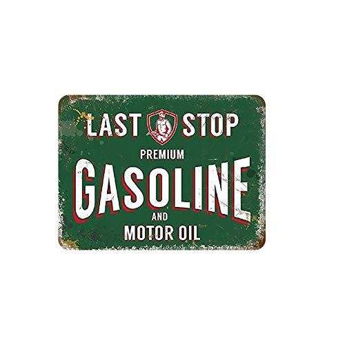 SKYNINE INC Vintage Metalen borden, Premium Motorolie Benzine, 20 x 30cm, Wanddecoratie Tin Tekens Voor Lounge/Bar/Cafe/Home Keuken/Restaurant/Slaapkamer/Garage/Man Grot/Gas Station.