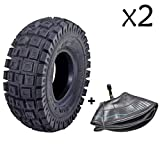 TDPRO 2 Pack of 3.00-4 | 10 x 3 | 260 x 85 | 9x3.50/3.00-4 | Tire & Inner Tube for Scooters Go Kart Rocket Chopper Goped Bike