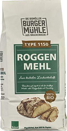 Burgermühle Bio Roggenmehl Type 1150 (6 x 1 kg)