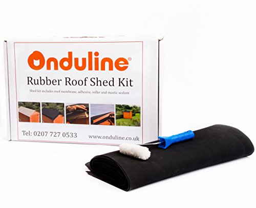 ONDULINE EPDM rubber roof kit. A complete shed roof kit in a box - 3 x 6 pent (membrane size 2.5m x 1.4m)