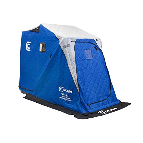 CLAM 12564 Legend XL Thermal Ice Fishing Shelter with Deluxe Swivel Seat, Blue/Gray