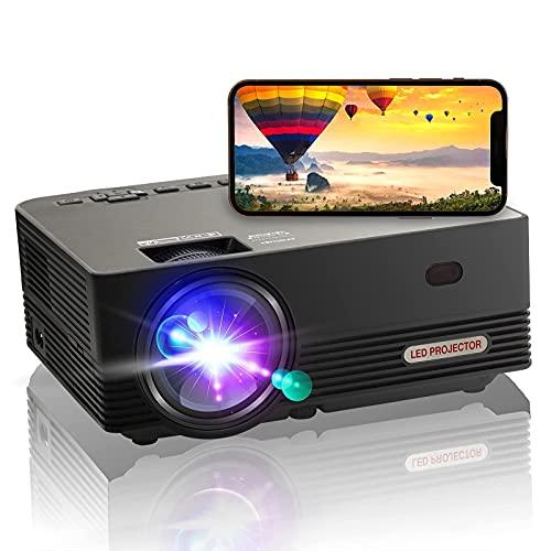 Proyector nativo 1080P, proyector WiFi, 4K proyector de películas portátil OSEVEN, proyector de video de cine en casa compatible con...