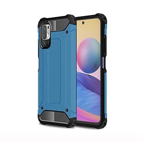 Jeelar Funda para Xiaomi Redmi Note 10 5G Funda,Antigolpes Metal Estuche Protectora,Silicona Ligera Delgado PC + TPU Bumper Rubber Caso,Doble Capa y Protección Extrema contra Caídas.