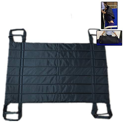 GHzzY Transfergurt für Senioren, bettlägerige, behinderte und fettleibige Patienten - Patienten transferieren Hebezeug für den Transfer vom Rollstuhl zum Bett, Auto,Schwarz
