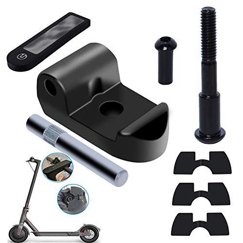 Poweka Gancho Plegable de Patinete Compatible con Xiao-mi M365/M365 Pro con Tornillo de Perno Fijo Amortiguadores de Vibración de Goma Funda Protectora de Silicona Reemplazo Partes