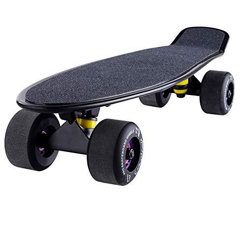 Generies Urban Board Skateboard Banana Board Erwachsene Kinder vierrädriger Roller Anfänger Teenager Bürste Street Road Board (schwarz)