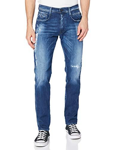 REPLAY Anbass Jeans, 009 Azul Medio, 29 W / 34 L para Hombre