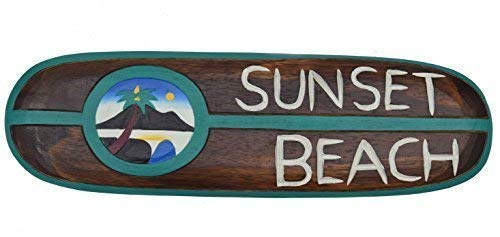 Interlifestyle Sunset Playa Tabla de Surf 60cm Im Tiki Hawaii Decoración Style para Colgar Tabla de Surf