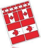 Biomar Labs® 10 x PVC Adesivi Set Stickers Bandiera Nazionale Canada Canadese per Auto Moto Finestrìno Porta Casco Scooter Skateboard Bici PC Laptop Tablet Tuning D 31