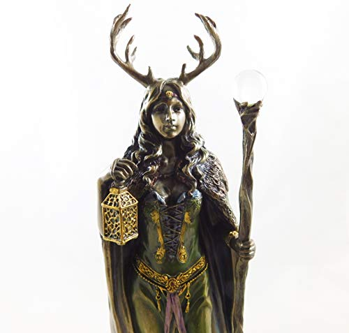Wiccan Lady Bronzed Witch Statue...