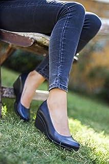 TARÇIN Hakiki Deri Günlük Kadın Dolgu Ayakkabı TRC50-0274