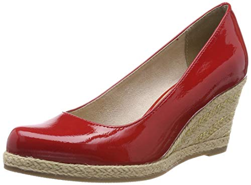 MARCO TOZZI Damen 2-2-22440-22 Plateaupumps, Rot (Red Patent 524), 39 EU