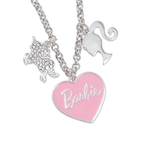 GIOIA Barbie Pink Heart & Unicorn Charm Necklace