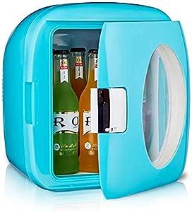LZXH Réfrigérateur de Voiture Mignon réfrigérateur de Soins de la Peau/Mini réfrigérateur cosmétique Portable 9L, Petit réfrigérateur de Maquillage avec réglage Chaud et Froid, pour Le Maquillage