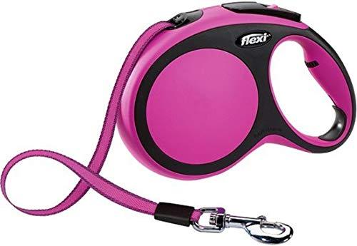 Flexi New Comfort Tape - Hondenriem - Roze - M - 8 m - (<20 kg)