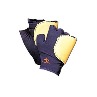 Impacto 53-2 XL 532 Fingerless Palm/Side Impact Gloves, Blue, XL