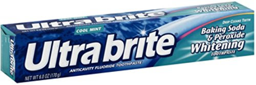 Ultra brite Baking Soda & Peroxide Whitening Toothpaste, Cool Mint 6 oz (Pack of 8)