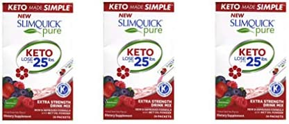 SLIMQUICK Pure Weight Loss Drink Mix Designed for Women Mixed Berries 26 ea Pack of 3 product image