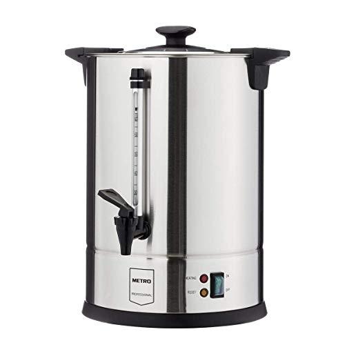 METRO Professional Kaffeemaschine GCM4011 | 10,5 Liter | 70 Tassen | 1650 W | Mengenbrüher | Mit Rundfilter | Warmhaltefunktion | Überhitzungsschutz | Kühle Außenwand | Deckelgriff