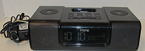 iHome iP9 Speaker Dock with Clock Radio for iPod and iPhone (Black) - WITHOUT REMOTE - WITHOUT BOX