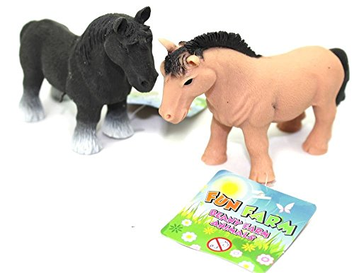 Carousel Rubber Stretchy Beany Farm Animal Stress Reliever Squishy Toy ~ Horse Colour Vary