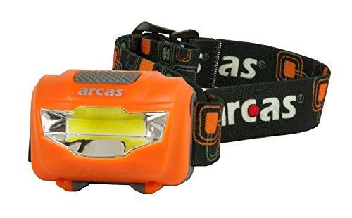 Arcas 30710014 LED Kopflampe 3W, inkl. Batterien, farbig sortiert