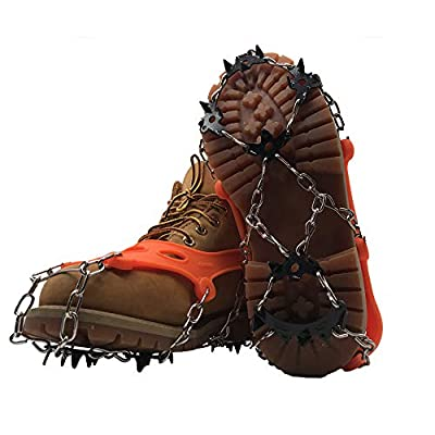 Traction Cleats Ice Snow Grips Crampons Micro Spikes Shoe Boots, Safe Outdoor Walking Hiking for Kapaski