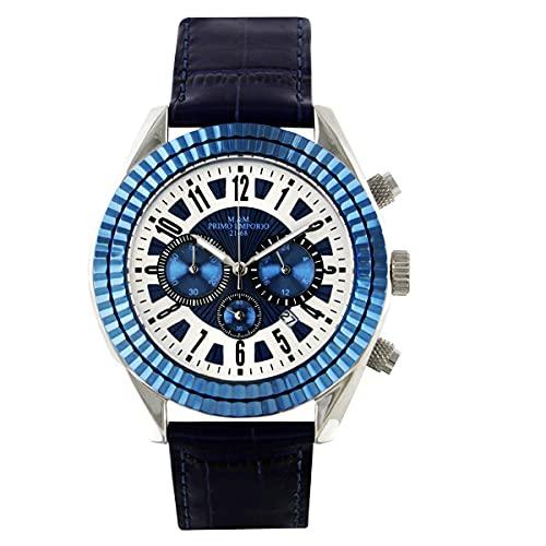 Reloj cronógrafo M&M Primer Emporio acero y piel 0914KB