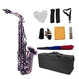 Instrumento Viento Madera Tipo Llave E Flat Saxofón Alto Vintage Green 802 Llave con Maleta Reed Cepillo De Limpieza...