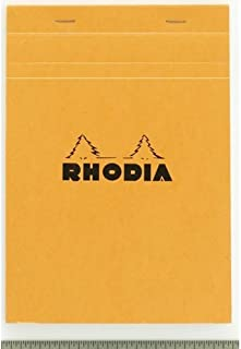Pack of 5 Rhodia Classic Staple Bound Graph Paper Pad - Orange N° 18