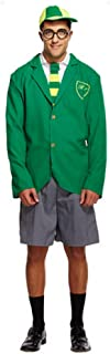 Mens Adult School Boy Geek Nerd Uniform Stag Do Fancy Dress Costume Outfit (STD) Green