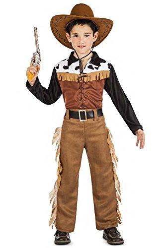 Kimokawaii Disfraz Vaquero Texas Talla 7-9 AÑOS TAMAÑO Infantil