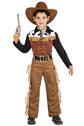 Kimokawaii Disfraz Vaquero Texas Talla 5-6 AÑOS TAMAÑO Infantil