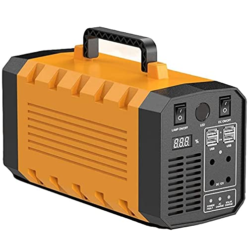 LOVEHOUGE Estación De Energía Portátil, Generador De Energía De 500 W, Batería De 288 WH / 78000 Mah con Enchufe Universal para Emergencias Al Aire Libre