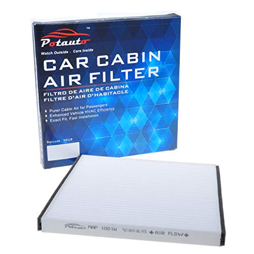 POTAUTO MAP 1001W (CF10132) High Performance Car Cabin Air Filter Compatible Aftermarket Replacement Part