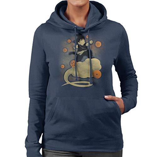 Dragon Ball Z Goku Cloud Silhouette Women's Hooded Sweatshirt