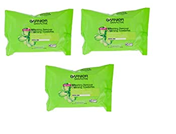 Garnier SkinActive Clean + Refreshing Remover Cleansing Towelettes 25 ea  Pack of 3