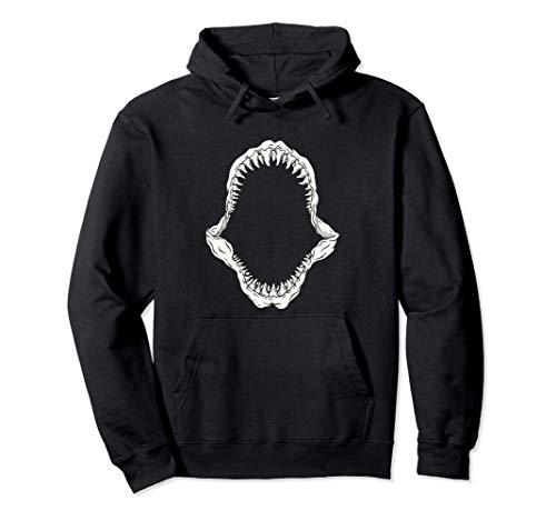 Megalodon Mandíbula Dientes de tiburón Tiburón gigante Shark Sudadera con Capucha