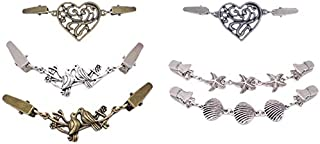 TOOGOO Retro Sweater Cardigan Clips Keeper Fashion Brooches Shawl Duck Clip Buckles Clothes Decor Beaded Pearl Pin Brooch Metal Buckle