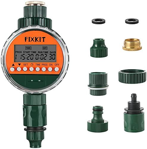 Fixkit Programmatore di Irrigazione, Timer da Irrigazione, Giardino Timer Irrigazione Automatico con LCD Display, per Giardino, Terrazzo, Prato e Fiori