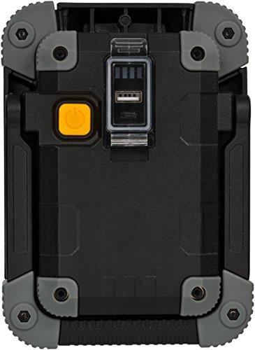 Brennenstuhl Akku LED Arbeitsstrahler ML CA 110 M / LED Baustrahler für außen 10W (Robuste LED Arbeitsleuchte Akku mit Powerbank-Funktion und Transporttasche, Gehäuse aus Aludruckguss, 1000lm, IP54) - 6